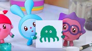 Малышарики - Раскраска для детей - Осьминог. Моем руки (Детские развивающие видео)