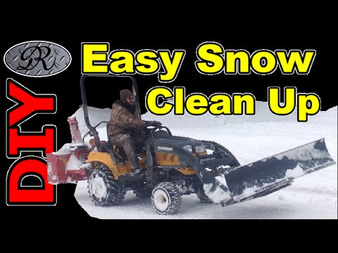 ❄ DIY 4X4 Tractor With Home Made Snow Plow and Snow Blower Make Winter Storm Clean Up Easy.