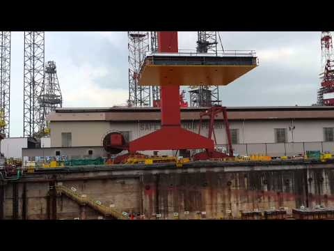 First Block of PV DRILLING VI to Drydock (Feb. 17, 2014)