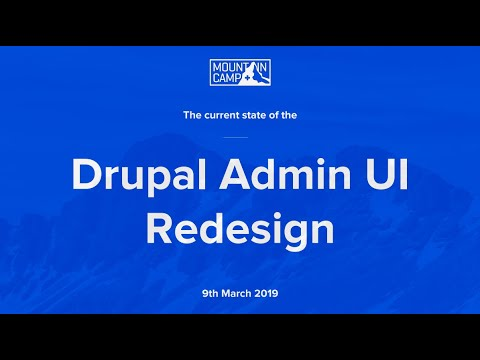 Current state of the Drupal Admin UI Redesign - Sascha Eggenberger & Cristina Chumillas thumbnail