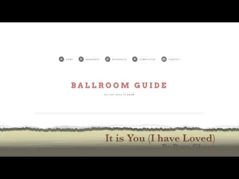 Waltz Music: It is You (I have Loved) by Dana Glover
