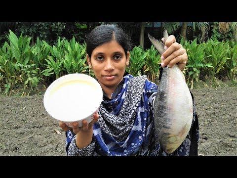 Doi Ilish   Hilsha Fish Recipe   Bengali Doi Ilish Bhapa Recipe Cooking By Street Village Food