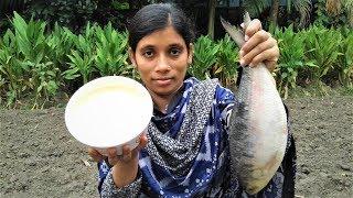 Doi Ilish | Hilsha Fish Recipe | Bengali Doi Ilish Bhapa Recipe Cooking By Street Village Food