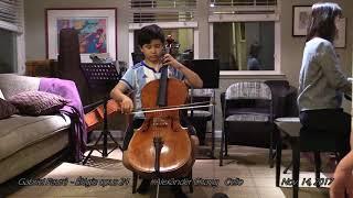 Gabriel Faur - lgie opus 24 - Alexander Chang - Cello