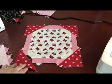 Finishing the Octagon Block for the Neapolitan Quilt