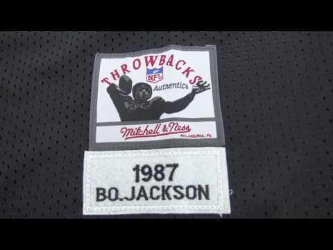 483dc492 Oakland Raiders #34 Bo Jackson Mitchell Ness Black 1988 Retired Player  Vintage Replica Jersey - YouTube