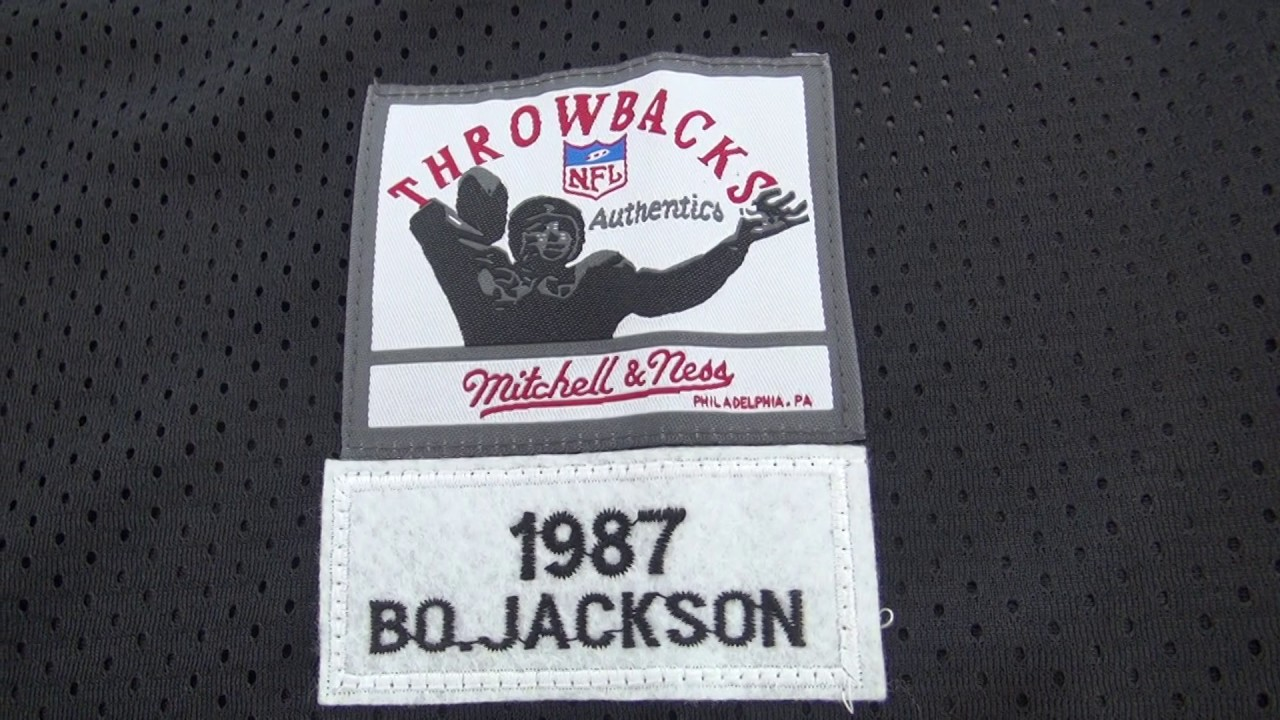 newest dd47e 4120c Oakland Raiders #34 Bo Jackson Mitchell Ness Black 1988 Retired Player  Vintage Replica Jersey