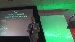 Ed Wild at the 3rd National Huntington's Disease Conference in Stoke on Trent, November 14th 2013