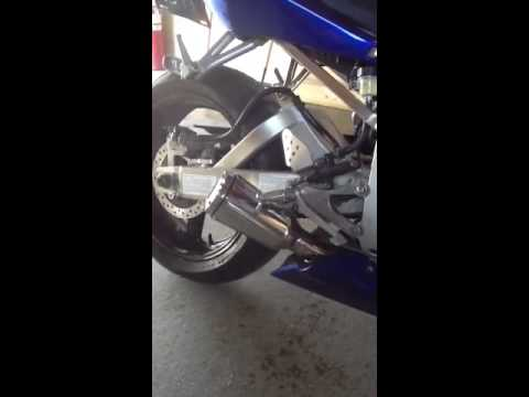 Yamaha R6 Short Exhaust Pipe 1998-2002 XB Extremeblaster Streetfighter with Sound Arrester Baffle
