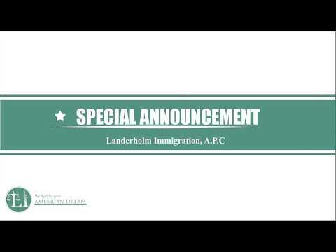 Special Announcement - 2018 Asylum Update