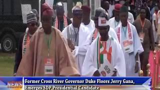 Former Cross River Governor Duke floors Jerry Gana, emerges SDP presidential candidate