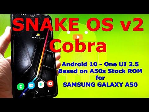 Snake OS v2 Cobra for Samsung Galaxy A50 Android 10 Custom ROM