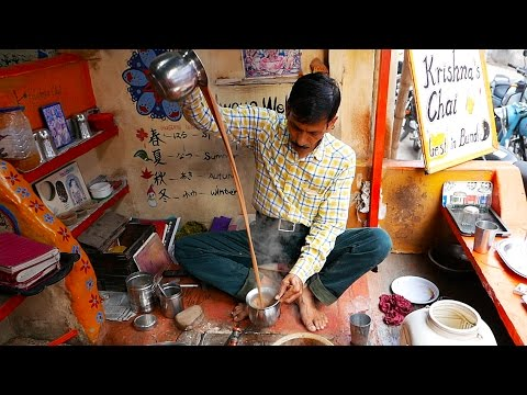Indian Street Food - SPICED MILK TEA Masala Chai