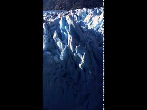 passing by O'Higgins Glacier