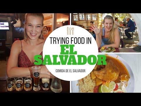 TRYING FOOD IN EL SALVADOR | Comida tipica de El Salvador, Salvadorian Food!
