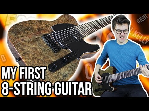 My First 8String Guitar!!  Michael Kelly 508 Demo