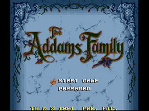 The Addams Family SNES Music - Up and Down, In and Out