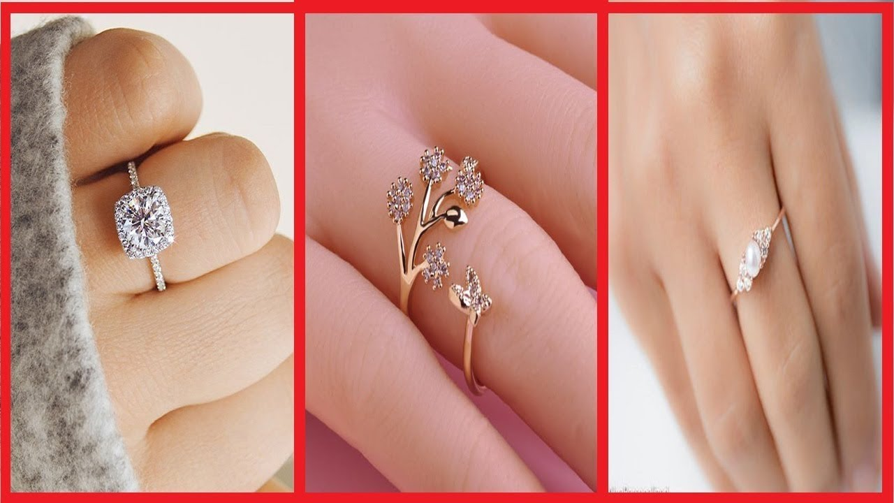 Simple Finger Ring Designs For Women - Simple Gold Ring For Party ...