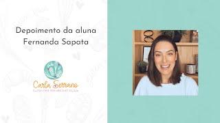 Depoimento da aluna Fernanda Sapata, Chef Funcional em Maringá