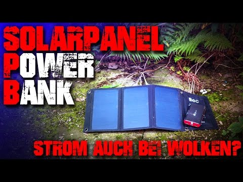 EC Technology Solar Panel Powerbank Akku - Review Test - Outdoor Survival Bushcraft Trekking