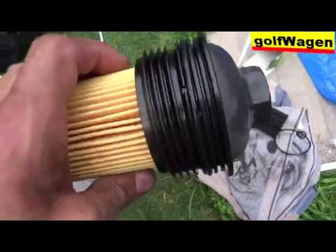 1.6TDI 77KW how to change oil and oil filter 100% detailed VW SKODA OCTAVIA 2
