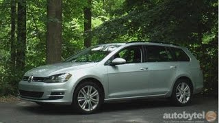 2015 Volkswagen Golf SportWagen TDI Test Drive Video Review