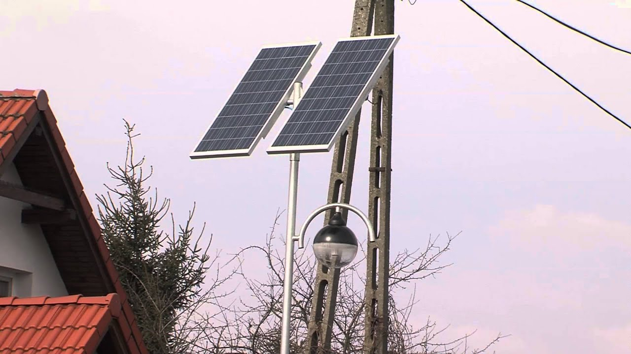 Trzcianka Montują Lampy Solarne