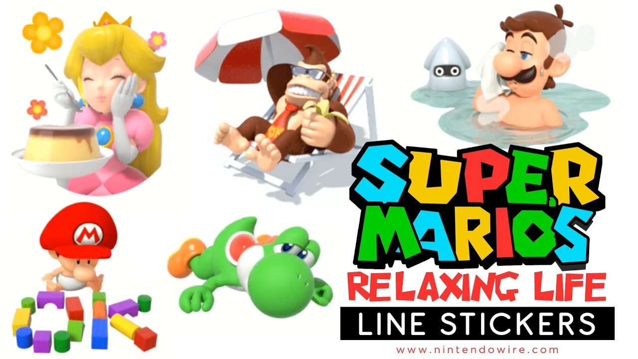 Super marios relaxing life line sticker showcase