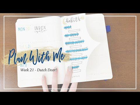 dutch-door- -week-21-bullet-journal-set-up
