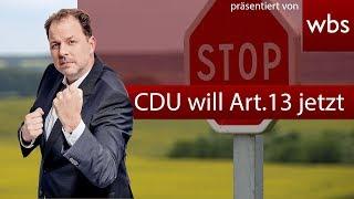 Unfassbar: CDU will Art. 13 Abstimmung vorziehen! & Antwort an Hirte, Herwig & FAZ | RA Solmecke
