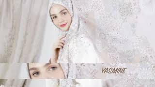 Kerudung Modern Motif Hijab Segi Empat Mocha Ultrafine Yasmine