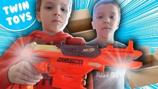 New Nerf Gun Unboxing & Review:  Accustrike Falconfire