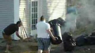 Fire..on The Wheel Barrel
