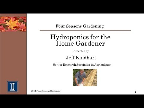 Four Seasons Gardening- Hydroponics for the Home Gardener