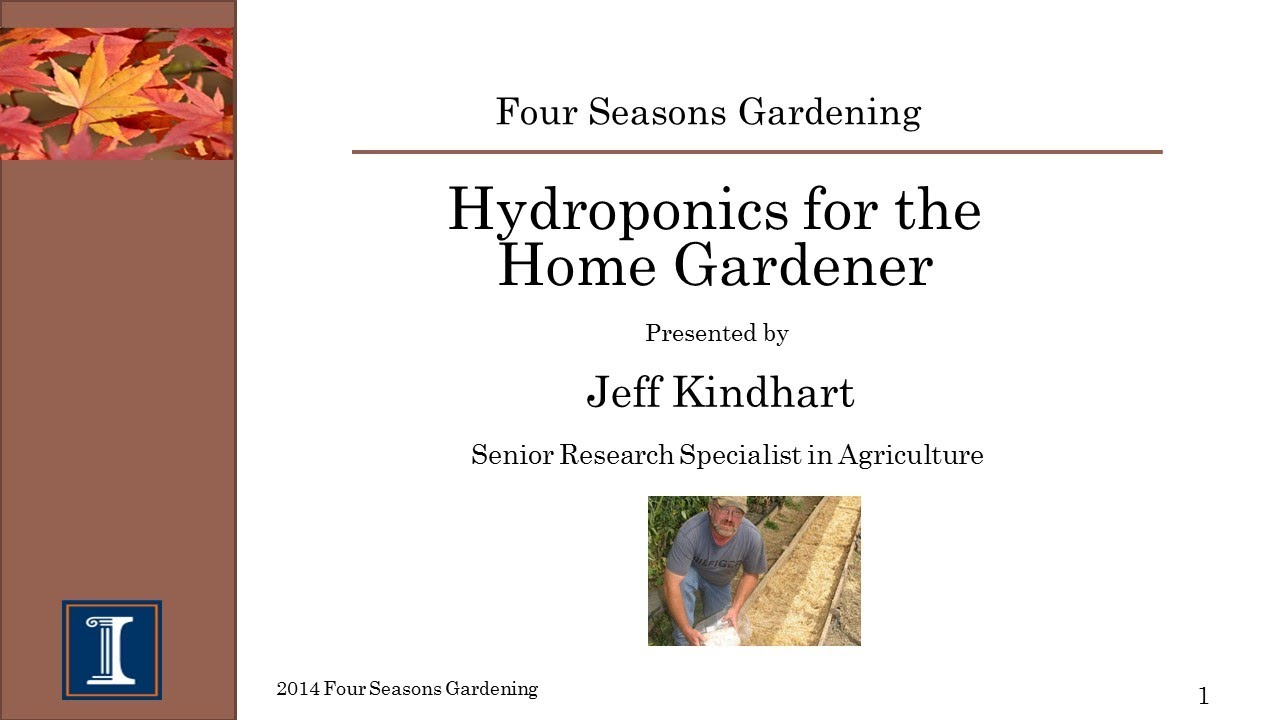 Four Seasons Gardening  Hydroponics For The Home Gardener
