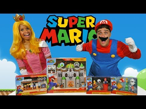 Super Mario Playsets With Princess Peach & Mario ! || Toy Review || Konas2002 from YouTube · Duration:  14 minutes 46 seconds