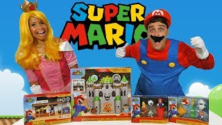 Super Mario Playsets With Princess Peach & Mario !  || Toy Review || Konas2002