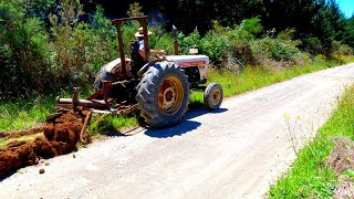 $500 David Brown Tractor gets a service, then back to work grading a 4 mile driveway