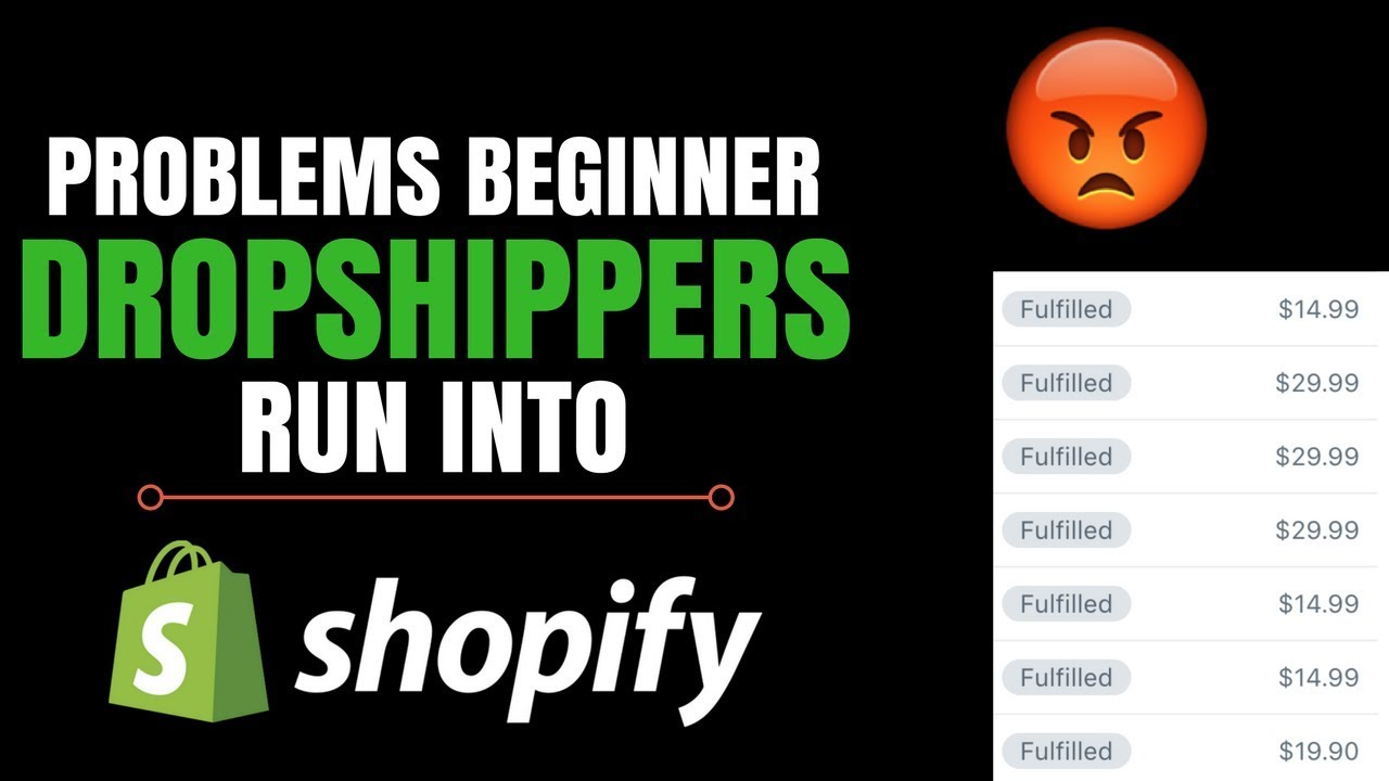 Problems Beginner Dropshippers Run Into (Shopify)