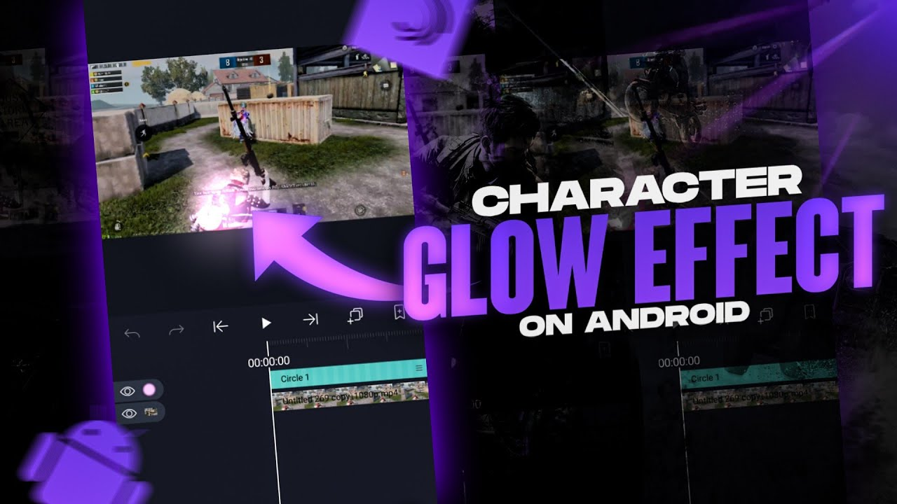 PUBG montage character glow effect on android |
