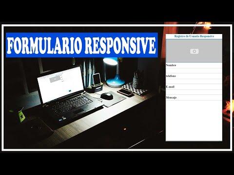 formulario de registro responsive html y css