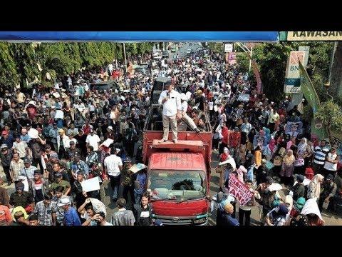 Ribuan Massa Tumpah Tuntut SGC dan Pembatalan Paslon Arinal-Nunik