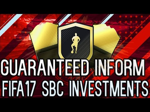 FIFA17 *NEW* GUARANTEED INFORM SBC INVESTMENTS! *INSANE* PROFIT FROM INVESTMENTS! GIVEAWAYS!