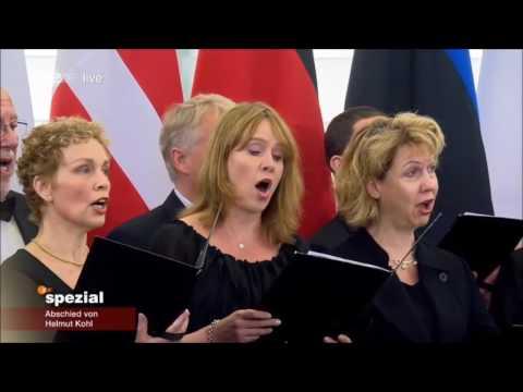 Helmut Kohl - Deutsche Nationalhymne - Straßburg