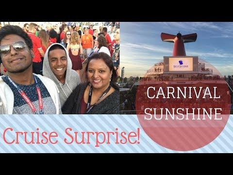 Carnival Sunshine Cruise VLOG (Ep.1) | Surprise!...We're Going on a Cruise!