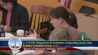 Board of Selectmen 10 16 2017