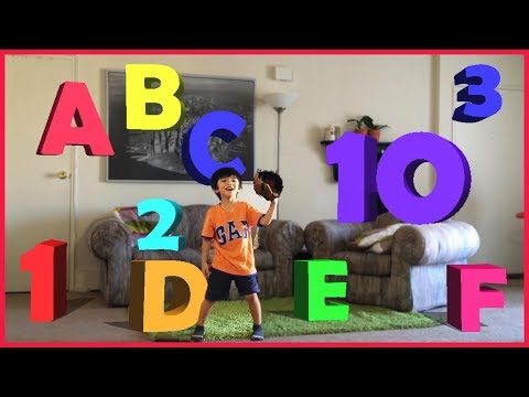 Learning ABC Letter Alphabets and numbers 1-10 with Baseball | PRETEND PLAY