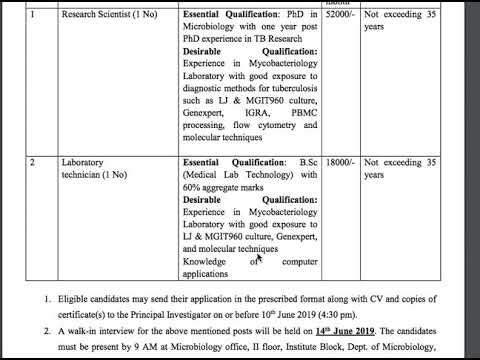 Vacancies for Laboratory Technician in JIPMER