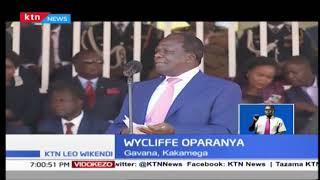 Rais Uhuru Kenyatta amehotubia Wakenya katika sherehe za Mashujaa