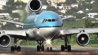 Awesome KLM / MD-11 Takeoff at Princess Juliana International Airport (HD1080p)